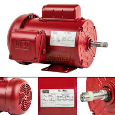 1 Hp Farm Duty Electric Motor 56 Frame 1745 Rpm Single Phase Tefc Weg New