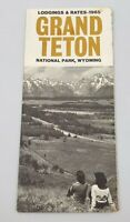 Vintage 1965 Grand Teton National Park Wyoming Travel Brochure Lodgings & Rates