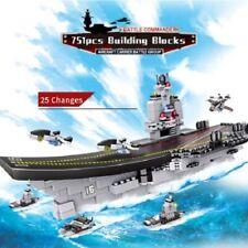 Warship Group Building Blocks 8 in 1 Aircrafted Ship Bricks Toys Gifts 751PCS