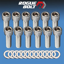 """SBC INTAKE MANIFOLD BOLTS 3/8 x 1 1/4"""" STAINLESS STEEL SMALL BLOCK CHEVY 350 TPI"""