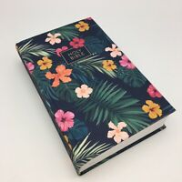 Holy Bible CSB Single Column Personal Size Tropical Flower Cloth Cover Hardback