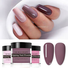 NICOLE DIARY 89 Colors Dipping Powder Purple Red Nail Dip System Natural Dry