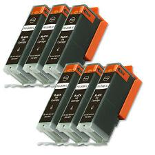 6 BLACK Ink Cartridge fits + CHIP for Canon PGI-250 XL MX722 MX922 MG6620 MG7520