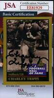Charley Trippi 1991 Enor Hall Of Fame Jsa Coa Hand Signed Authentic Autograph