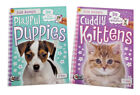 Puppies and Kittens Sticker Books Set Fun Educational Book Lot Kitties Cats Dogs