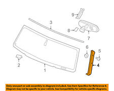 Hummer GM OEM 03-09 H2 Windshield-Outer Molding Right 20787558