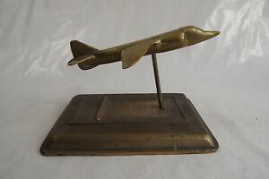 antique brass desk paperweight aeroplane