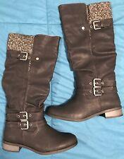 "XOXO Maylee-B Women""s Riding Boots Black Size 9 New In Box Winter Warm Fashion"