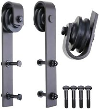 2Pcs Sliding Barn Door Hardware Rollers Track Rail Pulley Hanging Wheel 11.8""