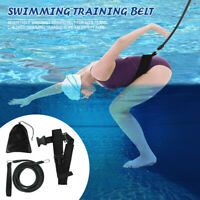 Swim Bungee Training Belt Tether Stationary Cords Pool Training Aid Resistance