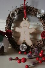 Personalised Christmas Gingerbread Tree Gift Family Decoration Wood Him Her