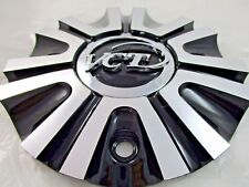 Vct Black/Polished Metal Custom Wheel Center Cap #208-2085/ #2285-Al (For 1 Cap)