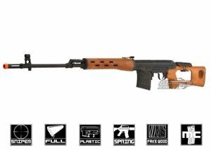 A&K Dragunov SVD-W Spring Sniper Airsoft Rifle (Imitation Wood) 10084