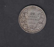 1911 CANADA SILVER 50 CENTS