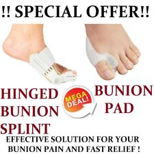 COMBO OFFER Hinged Bunion Splint Pad Corrector Hallux Valgus Brace Orthopedic