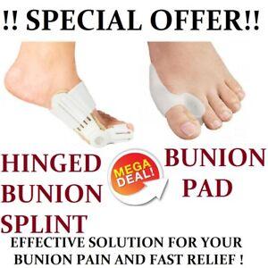 COMBO OFFER Hinged Bunion Splint Pad Corrector Hallux Valgus Brace Orthopedic