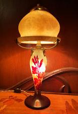 Emile Galle 1900 Art Nouveau Original Signed Antique Cameo Glass Lamp Alabaster