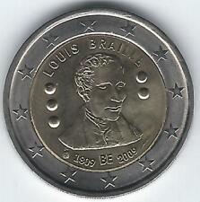 Pièce 2 euros commémo Belgique 2009 (Louis Braille)
