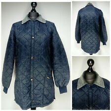 Mens Barbour Liddesdale Quilted Jacket Size Medium Snap Button Pockets Collared