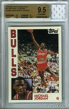 1984 Topps Michael Jordan Archives Rookie+Game Used JERSEY BGS 9.5 GEM MT GGUM