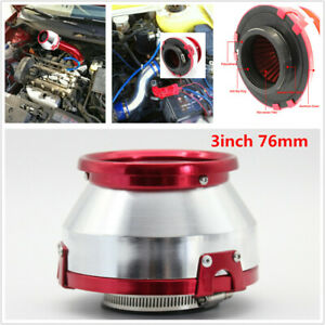 3 inch 76mm Auto Car Air Filter Clean Intake High Flow Short RAM/COLD Round Cone