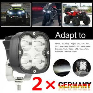 2X 40W LED Arbeitsscheinwerfer 12V-24V Weiß Scheinwerfer Auto Arbeitslicht 6000K