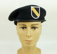 US MILITARY GREEN BERET SPECIAL FORCES CAP HAT 5TH SFGA BERET FLASH HAT SIZE XL
