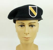 UNITED STATES ARMY SPECIAL FORCES GREEN BERET 5TH SFGA BERET FLASH HAT SIZE L