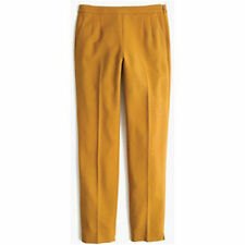 J Crew Martie 1960's Style Wool Cigarette Pant in Mustard NWT $120 Sz 4 e0899