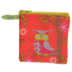 Woodland Animals Owl Fabric Zip Up Coin Purse Girls Christmas Gifts Presents