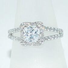 Ringe mit Cubic Zirkonia echten Damen-Edelsteinen für die Verlobung