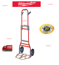 Milwaukee 300-lb Capacity Red Aluminum Folding Hand-Cart Truck Dolly, New