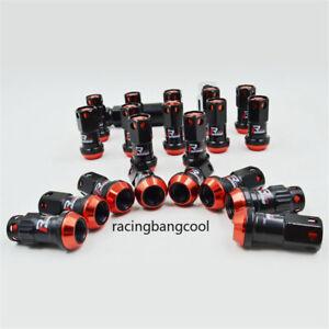 20pcs/set R40 Style Red Racing Composite 44mm M12x1.25 Car Wheel Rims Lug Nuts