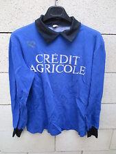 VINTAGE Maillot goal porté n°1 CREDIT AGRICOLE année 70 Heurtefeu made in France