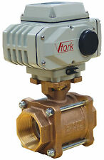 """2"""" Electric Actuated Ball Valve 120 VAC Brass-New"""