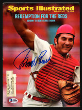 Johnny Bench Autographed Signed Sports Illustrated Magazine Reds Beckett S76195