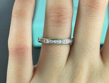 $6,500 Tiffany & Co Platinum Diamond 3.2mm Wedding Band Anniversary Ring Sz 7.5