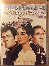 War and Peace (DVD) Audrey Hepburn / Henry Fonda - Region 4 -Very Good Condition
