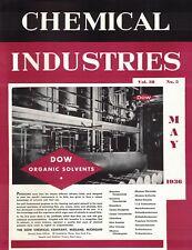 Produit Chimique Industries Revue May 1936 Dow Biologique Solvants Cryolite