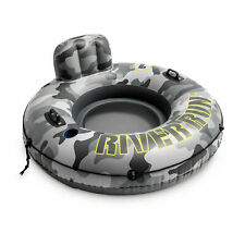 Intex 56835Ep River Run I Camo Inflatable Floating Tube Raft with Cup Holders