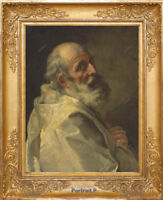 Old Master Art Portrait of A Bearded Man Joseph Marie Oil Painting 24x30