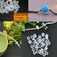 New 30pcs Silicone Rubber Rings Charm Stopper For Silver Bracelets Spacer Beads