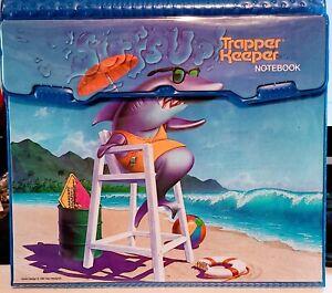 SURF'S  UP MEAD Trapper Keeper Notebook +folders 91 Shark lifeguard Beach ocean