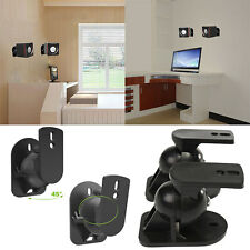 2pcs Black Surround Sound Speaker Wall Mount Brackets Rotatable for Bose