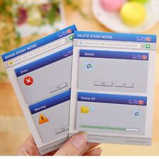 Creative Computer System Shape Memo Pad Diy Diary Sticky Notes Office Supplies