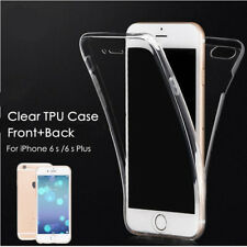 360 Front + Back shockproof TPU Clear Gel Case Cover For iPhone 6 / 6s Model