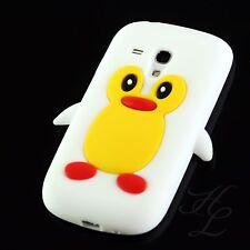 Samsung Galaxy S3 mini i8190 Silikon Case Handy Schale Schutz Hülle Pinguin Weiß