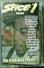 Spice 1--The Playa Rich Project, Vol. 2  (Cassette, 2002, LGB Music) NEW