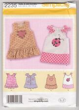 Simplicity Sewing Pattern 2235 Baby Dress With Applique & Trim Variations XXS-L