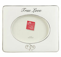 Russ Berrie Wedding White Photo Picture Frame True Love Hearts Anniversary Gift